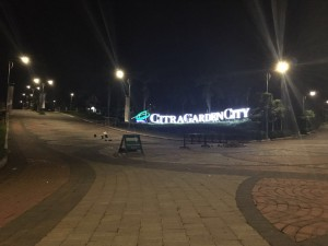 Iconic Gate CitraGarden City Malang (night)