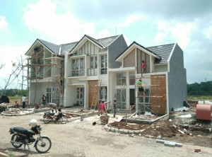 progress rumah contoh cluster greenHill